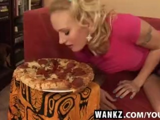 WANKZ- Blonde Bitch Loves Her Jizz Lovers Pizza