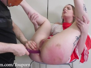 Little Red Ass Riding Hood spanked and anal toyed