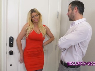 1111Customs 4k – Busty MILF Brooklyn Chase helps a horny coworker cheat on his wife