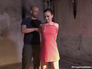 Ally Style bound gagged whipped vibed