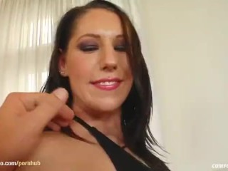 Cumshots from many guys in a group with Suzane on Cum For Cover