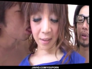 Serious Asian threesome for lustful Mai Serizawa