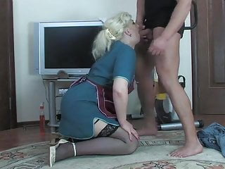 Blond mom anal