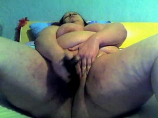 Fat bbw friend masturbating and spreading her wet pussy