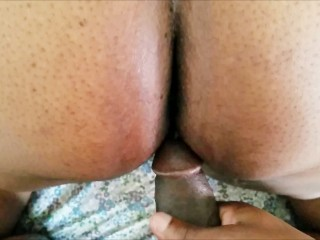 BIG BUTT BLACK MILF LOVES HOT CREAMPIE'S SHOT DEEP INSIDE HER