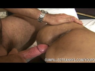 Blonde Tranny Fucked And Creampied