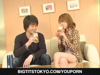 Appealing koharu looks dashing with cock in her