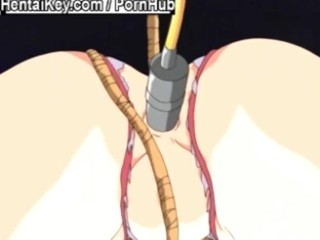 Tied redhead gets her ass use by all toys