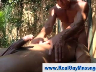 Gay straight oil massage seduction