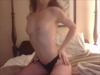 Hot Solo double penetration with doubled sided dildo in both holes