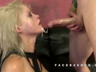 Nadia big butt white girl is face fucked