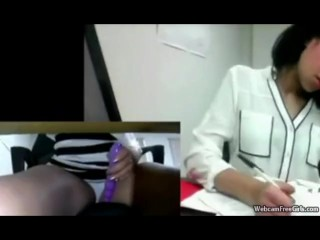 Indian Teen Masturbates While Working In Public Office