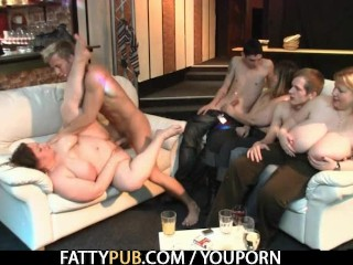 Fat chick is banged and creamed