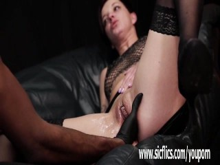 Rough interracial fisting and squirting orgasms