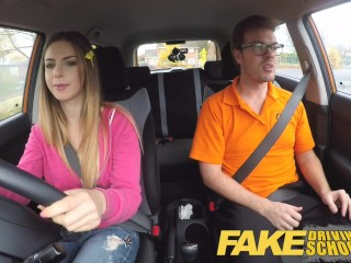 Fake Driving School full scene – Hot blonde student with big natural tits fucks for early exam