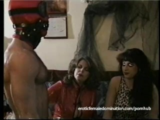 Two busty dominos have some fun with a really horny dude