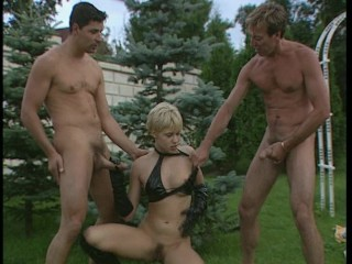 Hot foursome outdoors – DBM Video