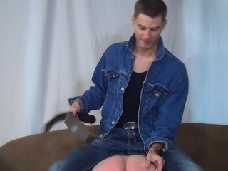 Slave gets his ass whipped by a sexy master