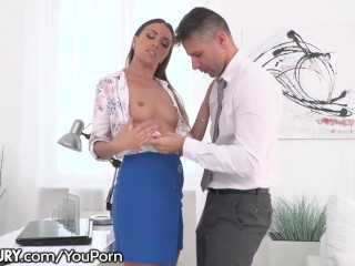 21Sextury Getting Anally Drilled by the Office Boss