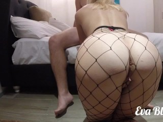 Intimate Amateur Sex With Petite Blonde In HOT Fishnets – REAL ORGASMS