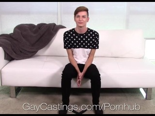 GayCastings – Porn Audition for Lennox Gray Goes Anal