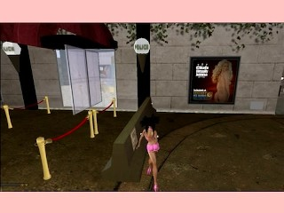 virtual stripper  of secondlife