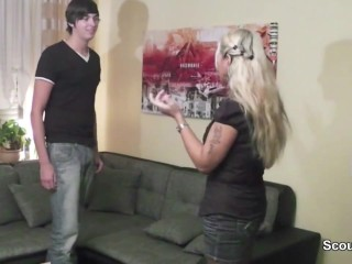 German mother seduce not her step son to fuck