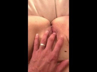 Cum shower on big ass my wife
