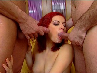 Redhead Takes a Double Load