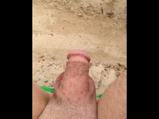 Pissing at beach