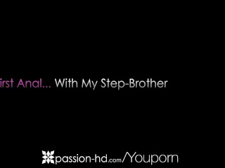 Stepbrother gets his sister ass virginity