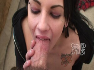 19 Yr Old with Jet Black Hair Gives a Blowjob