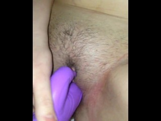 Wife toys and dvp with cumshot