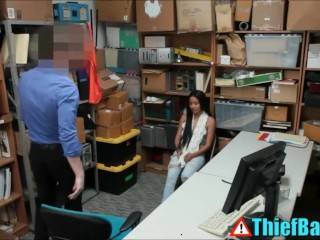 Teens Caught Stealing Suck and Fuck Mall Cop As Punishment