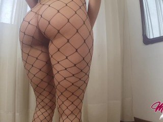 Perfect Teen Ass in fishnet, Yoga At Home, Sex on the floor…