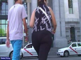 spanish big phat ass in transparent tights from GLUTEUS DIVINUS