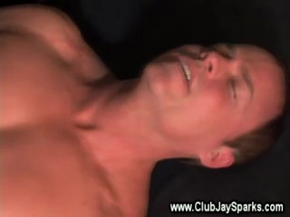 Guy gets his ass fucked by his gay lover whille lying on the couch