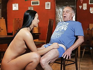 DADDY4K. Old and young lovers have fun when athletic boy…