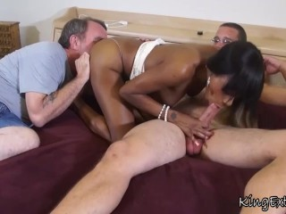Interracial Family Affairs 2 – Caramel Starr, Jason Voor – Father And Son
