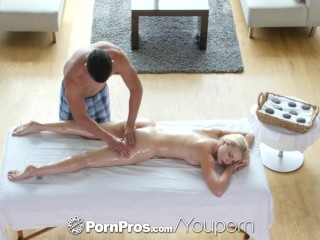 PornPros – Stunning blonde Staci Carr goes in for massage and gets fucked
