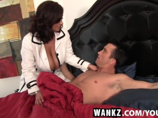 WANKZ- Super Hot Big Titty Slut Eva Notty Stroked On Bed