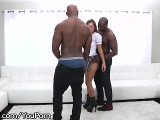 School Girl Keisha Grey Puts In Work – Hot Rough BBC Gangbang