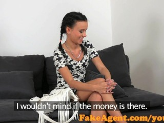 FakeAgent Sexy petite confectioner takes big dick in office