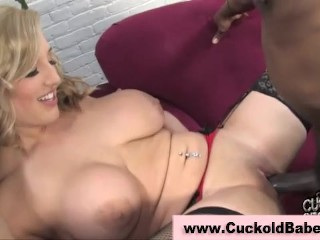 Cuckhold tramp fucked by black cock
