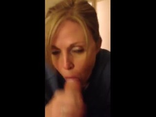 Milf plays with cock