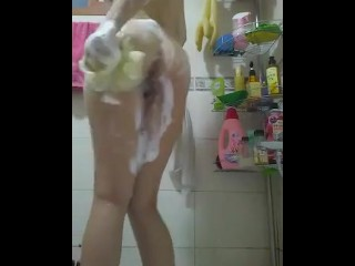 Asian wife in the shower