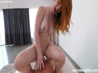 Redhead With Perfect Tits Gets FILLED WITH CUM