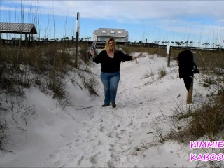 KIMMIE KABOOM BEING SILLY AT PENSACOLA BEACH TEASER
