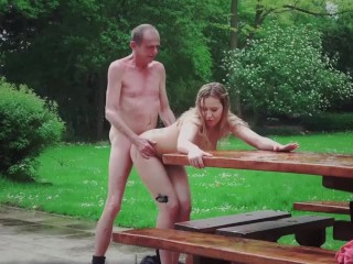 Merry Fucking Christmas super-hot blonde cumshot drilled by old man