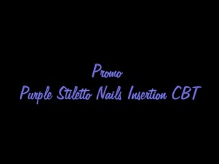 CBT purple stiletto Nails
